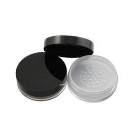Peneira de garrafa de pó on-line-10g transparente limpar vazio PS caixa de recipiente de pó caixa de peneira em pó, claro Sifter recipiente de plástico frasco cosmético F2272