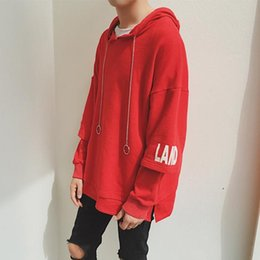 premium selection 9178d 51187 Wholesale Custom korean men red hoodie - Buy Cheap Oversize ...