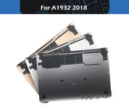 "capa de couro apple macbook pro Desconto Novo laptop inferior tampa inferior shell para macbook air retina 13 ""a1932 fundo case tardio-2018 mre82"