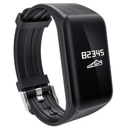 Podómetro corazón bluetooth online-Reloj inteligente monitorización del ritmo cardíaco deportes Bluetooth reloj inteligente podómetro recordatorio de información ayuda para dormir IOS Android