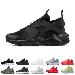 2019 Huarache 4.0 1.0 tênis para homens das mulheres tênis de corrida triplo preto huaraches respirável formadores ao ar livre sapatos tamanho 36-45 de