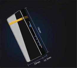 2019 isqueiro usb usb Duplo Arc Isqueiro Tela de Toque À Prova de Vento Eletrônico USB Bateria Display Mais Leve Fumador de Cigarro Elétrico Mais F ...
