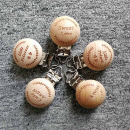 fermacavi in legno Sconti 1 pz Ciuccio in legno Clip di fascini di clip in legno tondo per catena di ciuccio per bimbi Massaggiagengive