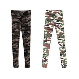 Leggings de camuflaje online-Hot Vogue Mujer Lady Girl Slim Camouflage Camo Stretch Pants Leggings Pantalones