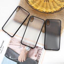 Frosted handy-abdeckungen online-Matteffekt-Telefon-Kasten für iPhone 7/8 X HD TPU Handy-Abdeckung transparente Telefon-Abdeckung