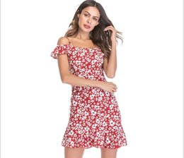 a820c99dce9 Plus size 2019 Women Chiffon Mini Vestido Flora Printed Dresses Summer  Style Suspenders Bodycon Beach dress Short Mini Dress