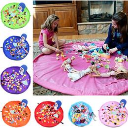 tappeto rotondo per bambini Sconti 1.5m bambini giocano la stuoia dell'astuccio di immagazzinamento dei giocattoli dell'astuccio dei giocattoli della stuoia che gioca le coperte portatili impermeabili del sacchetto di viaggio della spiaggia della coperta della stuoia di gioco