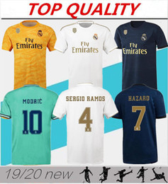 Camiseta de fútbol del Real Madrid 2019 2020 de calidad de Tailandia camiseta local de portero portero 19/20 camiseta de futbol CAMISETA de fútbol PELIGRO MODRICO desde fabricantes