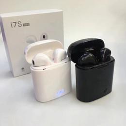 2019 apple iphone дешевые наушники Горячие продажи дешевые i7 I7S TWS Близнецы Bluetooth наушники с зарядное устройство Box беспроводные наушники гарнитура для Iphone X Samsung с розничной упаковке дешево apple iphone дешевые наушники
