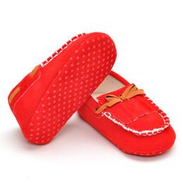 Canada Nouveau bébé unisexe Tassel Bow No Tie Tods doux confortables chaussures plates pour bébé pour le printemps et l'automne Offre