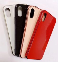 capas de telefone absorventes de choque Desconto vidro de luxo caixas do telefone da Apple Electroplated temperado tampa traseira Moda Protector for iPhone 11 pro Max X Xs XR Xs Max 6s 7 7p 8 Plus