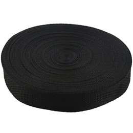 roll belt Coupons - 25mmx20m Roll Nylon Tape Strap For Webbing Bag Strapping Belt Making DIY Craft - Black