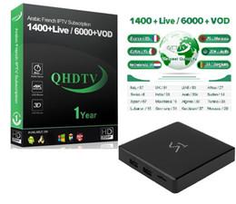 s1 android Sconti S1 1 anno iptv QHDTV TV Box Smart Android 8.1 Media Player Mini TV IPTV Set Top TV Box