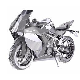 Puzzle di corsa online-all'ingrosso Metallo 3D Puzzle Toy Assembly Heavy Moto Modello DIY Motorbike Racing Car Kit di costruzione di giocattoli per adulti