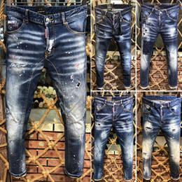 2019 neue berühmte markendesigner lang zerrissene individualität prägnante herren jeans top heiße mode luxus biker jeans für männer heißer verkauf von Fabrikanten