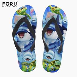 Official Website Forudesigns Cartoon Dolphin Print Mens Flip Flops Summer Beach Slippers Male Flat Anti-slip House Flipflops Zapatos De Hombre Other