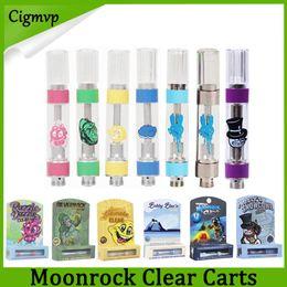 Nuovo stile MoonRock Clear Cartridge 1.0ml 1 grammo in ceramica Serbatoio vaporizzatore Vape vaporizzatore Moon Rock Carts per 510 thread Atomizzatore olio denso da