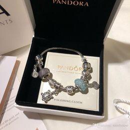 Pandora incanta il contenitore di monili online-Pandora gioielli di design di lusso donne bracciali bracciale charm acciaio inox vite bracciale bracciali regalo donna Bracciale donna scatola originale