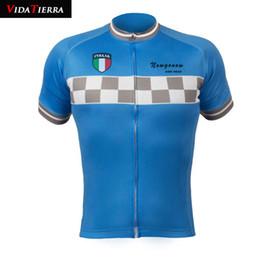 2019 rosso pattino di ciclismo HOT 4 stili 2019 VIDATIERRA uomo maglia ciclismo Italia squadra italiana grigio Nero Rosso blu maglia discesa stile semplice classico onore fortunato