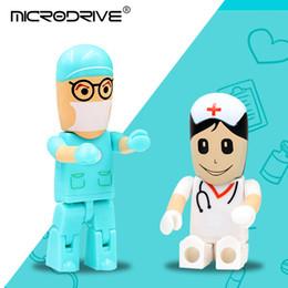 mejores regalos de enfermería Rebajas El mejor regalo de 128 GB pendrive de dibujos animados U Disk Doctor unidad flash USB 16gb enfermera lápiz de memoria 4gb 8gb 32gb lindo pen drive 64gb