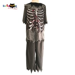 Fancy dress Boys Zombie Costume Kids Ghost Disfraces de Halloween Niño Scary Bloody Skeleton Party Cosplay Fancy Dress Outfits Ropa desde fabricantes