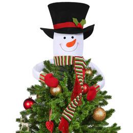 hot Weihnachtsbaum-Deckel Snowman Hugger - Weihnachten / Urlaub / Winter-Märchenland-Partei-Dekoration Ornament Supplies Home Decor von Fabrikanten