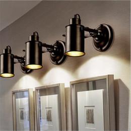 Luce pendente registrabile online-Pendant Light Industrial Vintage Loft Lampada da soffitto regolabile parete Faretti americani Retro parete Lamp Restaurant lampada LED cafe bar arredamento