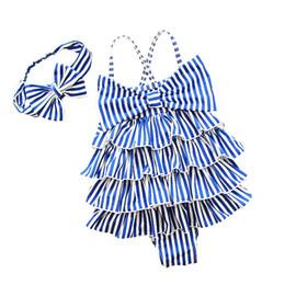 Canada Maillot de bain pour enfants bandeau bande bébé maillot de bain fille vêtements de plage une pièce bébé couche de gâteau maillot de bain croix épaule Offre