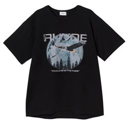 T-shirt limitate online-19ss Rhude T-shirt Uomo Donna 1: 1 Rhude Chicago Limited Eagle Maglietta con stampa estiva stile Rhude Top Tees