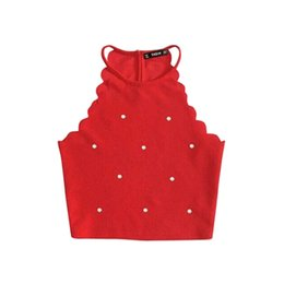 912b2af2c32f0d Mode Womens Summer Hanging Neck Weste Tops Ärmelloses Shirt Bluse Lässige  Solid Color Tank Tops T-Shirt