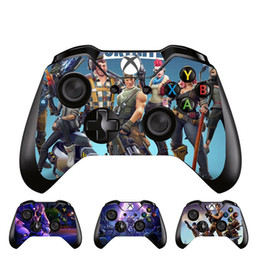 Xbox one controller vinil on-line-Fortnite design gamepad joystick adesivo de pele decalque para xbox one controlador pvc protetor de vinil adesivo decorações