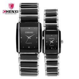 2019 relojes chenxi CHENXI Reloj de Pareja de Cerámica de Lujo Hombres Mujeres Top Brand Diamond Fashion Watch Set Reloj Relogio Reloj Hombre Reloj Mujer relojes chenxi baratos