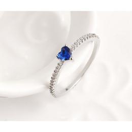 Одна бесплатная доставка лучшие продажи нового 18-каратного розового золота в форме сердца синий бриллиант обручальное кольцо потеря веса продукты регулируемые от