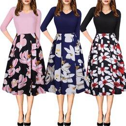 Zweig taschen online-V Wear Damen Kragen Seven Branch Cuff Bag Printing Kleid Am079 #