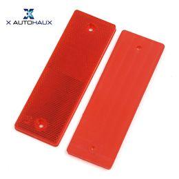 2019 универсальный отражатель автомобиля X Autohaux 2Pcs Универсальный красный пластиковый отражатель отражатель 145MM X 50MM для автомобиля грузовик дешево универсальный отражатель автомобиля