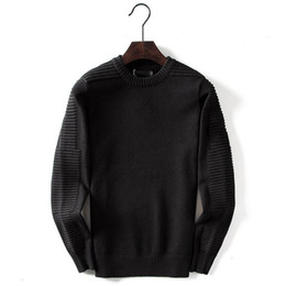 2019 sueter cashmere hombres xxl Diseñador mujeres de los hombres suéter de lana de lujo sólido ocasional de invierno suéter Marca blusa de manga larga SweatShirt Negro Gris M-2XL 99181CE
