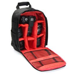 Bolsas de cámara duraderas online-Cámara profesional Bolsa de almacenamiento Durable Impermeable Negro Funda de mochila para cámara DSLR Rojo Verde Naranja Interior