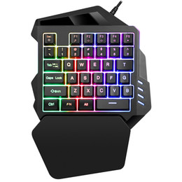 Jogos de vídeo on-line-Teclado para jogos K13 Teclado mecânico para uma mão Gamer Gaming Mini Teclado para a mão esquerda para jogos de vídeo
