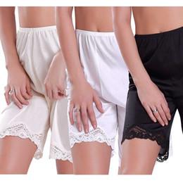 2019 атласные кружева 2019 New Women Lace Slip Pettipants Loose Satin Bloomers Panties Short Lingerie Sleepwear дешево атласные кружева