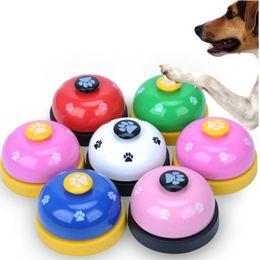 Cloche de dressage en Ligne-Pet Call Bell Apprentissage de jouets pour animaux appelé Petite Cloche Empreinte Anneau Teddy Puppy Pet Call Bell Outil De Formation Interactif Pour Chiot