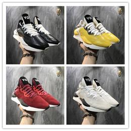Top venda 2019 Alta Qualidade Y3 Kaiwa Amarelo Chunky Yohji Sapatos Novos Homens Da Moda Núcleo Preto Branco Vermelho Casual Sapatilhas Formadores 22 supplier y3 sneakers de Fornecedores de y3 tênis