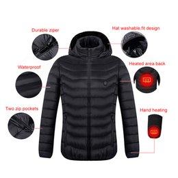 Practial Mens Frauen Beheizte Mantel USB elektrische Batterie mit langen Ärmeln Heizung Kapuzenjacke Warme Thermo Bekleidung Ski Warm Kleiden