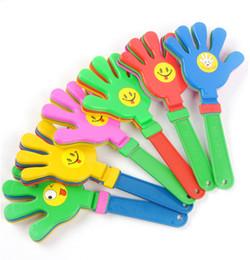 Brinquedos olímpicos on-line-Mão de plástico badalo clap aplaude líder aplauso para jogo de futebol olímpico jogo de ruído Fabricante Bebê Kid Toy Pet WCW377