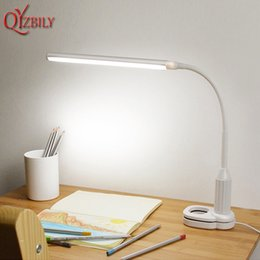 Lamps & Shades Brightinwd Simple Touch Three-speed Dimming Eye Led Desk Lamp Usb Charging Student Study Dormitory Bed Reading Table Lamps