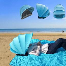 2019 abri de plage Mini Portable Sun Shelter Protection Solaire Tente Personnelle Pliable Ombre De Plage Parapluie Avec Couverture Oreiller Livraison Gratuite promotion abri de plage