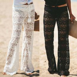 Seksi Kadınlar Bikini Cover Up Dantel Düşük Bel Çiçek Mesh Sheer See-Through Mayo Yüzme Pantolon Pantolon Mayo Beachwear Suit supplier sheer bathing suits nereden saf mayo tedarikçiler