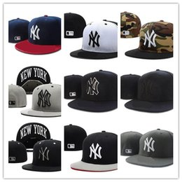 sport york Coupons - Cheap NEW YORK letter Baseball caps Chapeu bone men and women sports hiphop full closed Fitted Hats