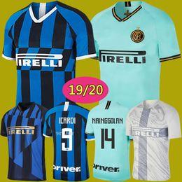 106d7a226ef 19 20 Inter soccer jersey LAUTARO ICARDI PERISIC NAINGGOLAN milan football  shirt inter 20 anniversary 2019 2020 POLITANO maillot de foot
