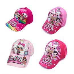 2019 cappelli di lana di animali dei capretti 4color I bambini Cartoon Doll Stampa Berretto da baseball per bambini delle ragazze dei ragazzi del fumetto stampa il cappello a visiera, cappuccio regolabile zx02