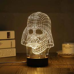 Christmas Father Nightlight Acrilico 3D Night Illusion USB Comodino comodino Lampada da comodino a LED Night Light Novità articoli da f1 luce fornitori